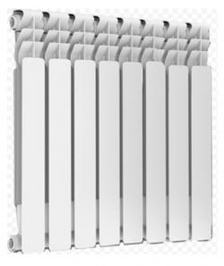 алюминиевый радиатор maxterm ma500/10 секций  - Магазин Аква-тор