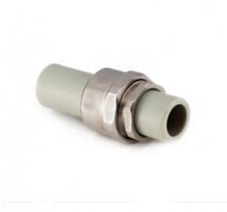 разъемное комб соединение (американка труба-труба) 25 heisskraft серый полипропилен  - Магазин Аква-тор