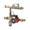 """Насосно-смесительный узел для систем отопления (в комплекте: термоголовка, датчик температуры, сторож температуры), межосевое 130мм, 1"""" -TIM"""