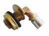 """Угольник прессовый, 90°, В, 16x2x1/2"""", бронза (RX), для прохода через стену, с крепёжным комплектом G 3/4"""" - Oventrop"""