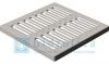 Решетка водоприемная Gidrolica Point РВ - 28,5.28,5 - штампованная стальная оцинкованная, кл. А15
