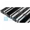 Придверная решетка Gidrolica Step - резина+текстиль+щетка+скребок 390х590мм