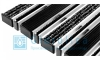 Придверная решетка Gidrolica Step - резина+текстиль+щетка 390х590мм