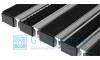 Придверная решетка Gidrolica Step - резина+щетка+скребок 390х590мм