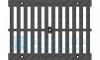 Решетка водоприемная Gidrolica Standart РВ -30.37.50 - щелевая чугунная ВЧ, кл. С250