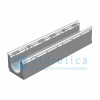 Лоток водоотводный бетонный коробчатый (СО 150 мм), с оцинкованной насадкой, с уклоном 0,5% КUу 100.21,3 (15).18,5(14,5)-BGU-Z, № -7, Gidrolica
