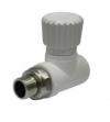 Кран радиаторный прямой 25х3/4 PPR белый полипропилен Политэк