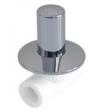 Вентиль хром. под штукатурку (люкс) ф 25 PPR белый полипропилен Политэк