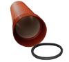 Труба двухслойная канализационная Политэк 233/200 SN8 (6м) с раструбом и уплотнительным кольцом