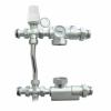 Насосно-смесительный узел для систем отопления с байпасом (без насоса), 130мм, TIM