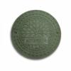 Крышка полимербетонная для 315 трубы зеленая